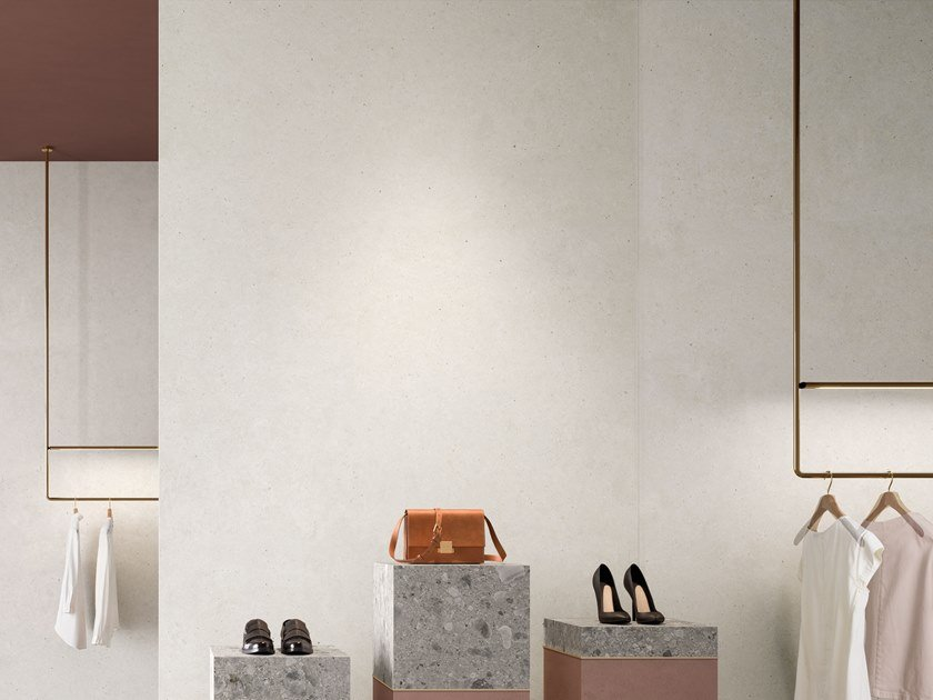 Porcelain stoneware wall/floor tiles with stone effect SILVER GRAIN WHITE by Italgraniti