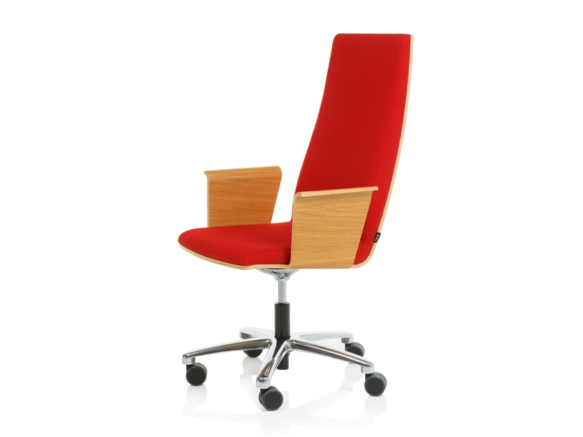 Task chair with 5-Spoke base SILVER L by RIGA CHAIR
