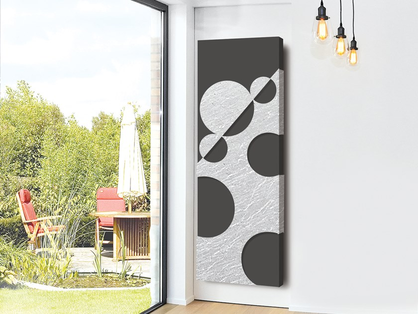 Electric wall-mounted aluminium panel radiator SILVER LEAF - DP 00506 by Termoarredo Design