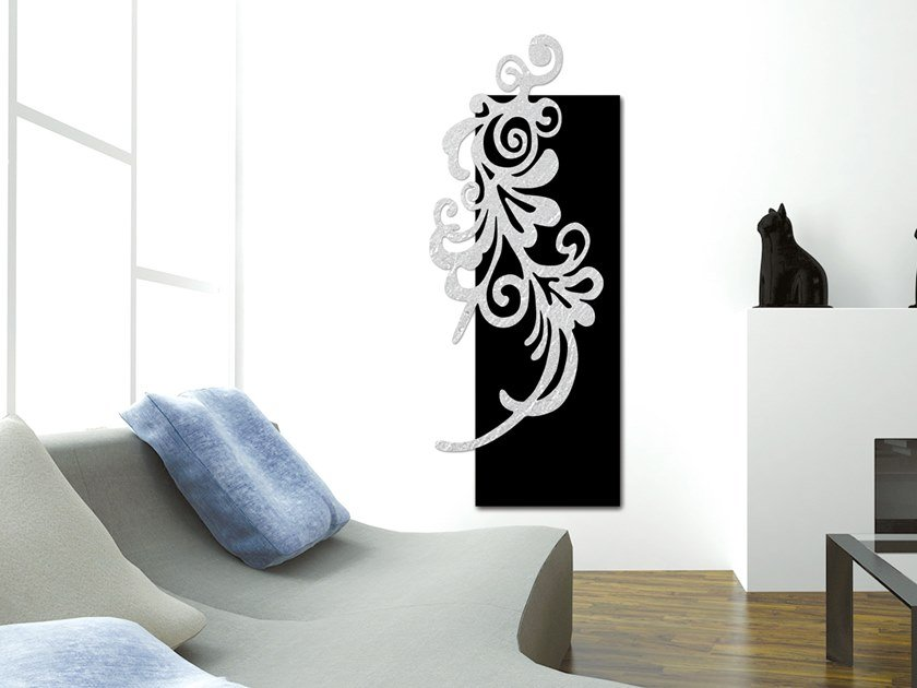Electric wall-mounted aluminium panel radiator SILVER LEAF - DP 00506 by Termoarredo Design