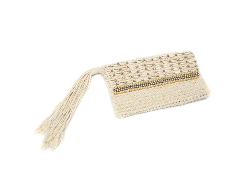 Cotton bag SILVER MACRAME by Bazar Bizar