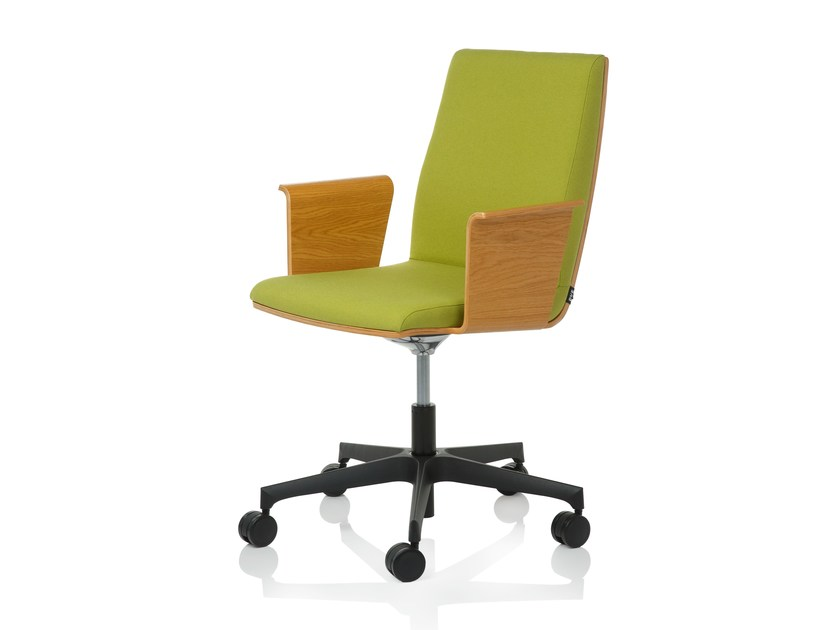 Task chair with 5-Spoke base SILVER S by RIGA CHAIR