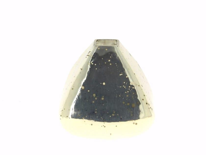 Vaso in vetro SILVER VASE TRIANGLE by CFOC