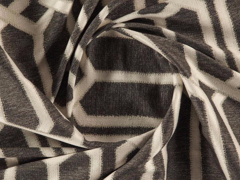 Jacquard washable polyester fabric with graphic pattern SIMIEN by More Fabrics