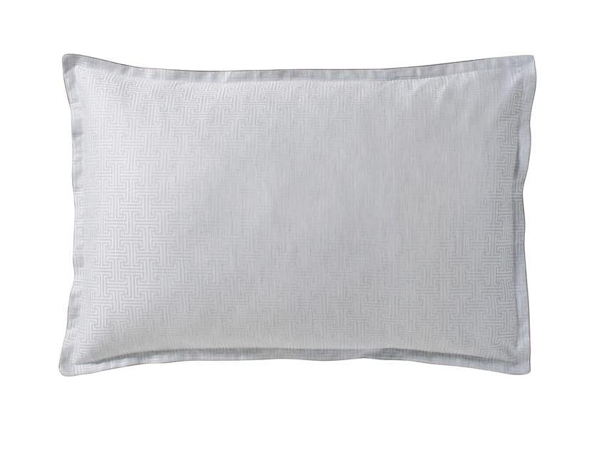 Jacquard cotton pillow case with graphic pattern SIMPLE T   Pillow case by Alexandre Turpault