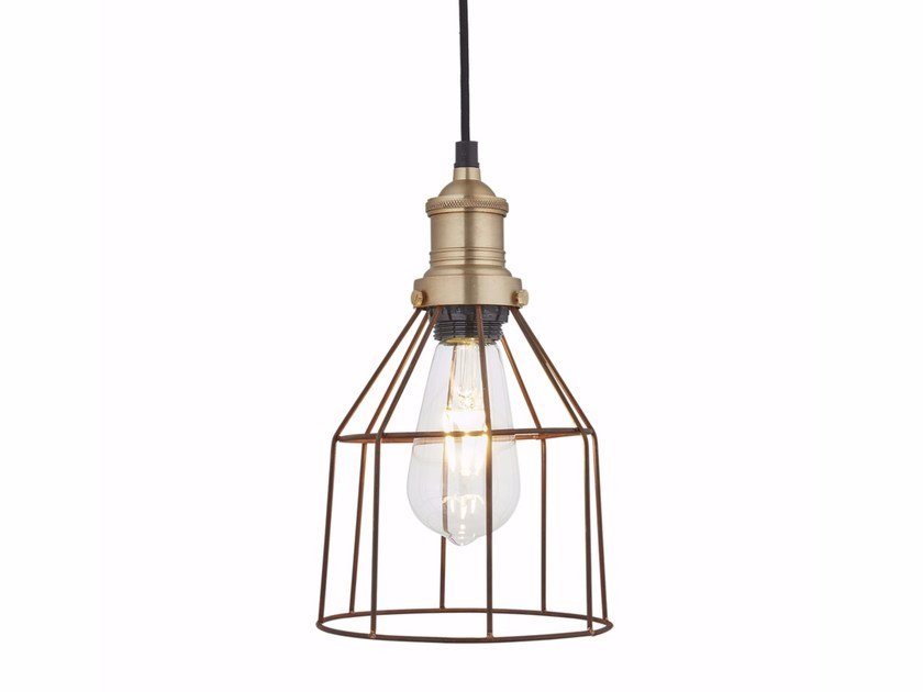 Iron pendant lamp SIMPLE VINTAGE CAGE - CONE by Industville