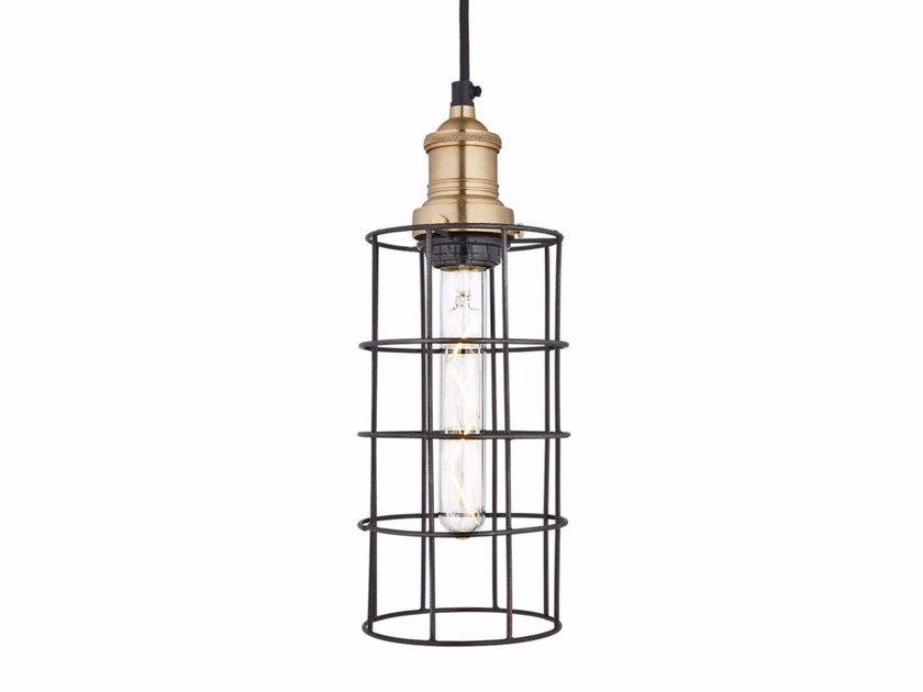 Iron pendant lamp SIMPLE VINTAGE CAGE - CYLINDER by Industville