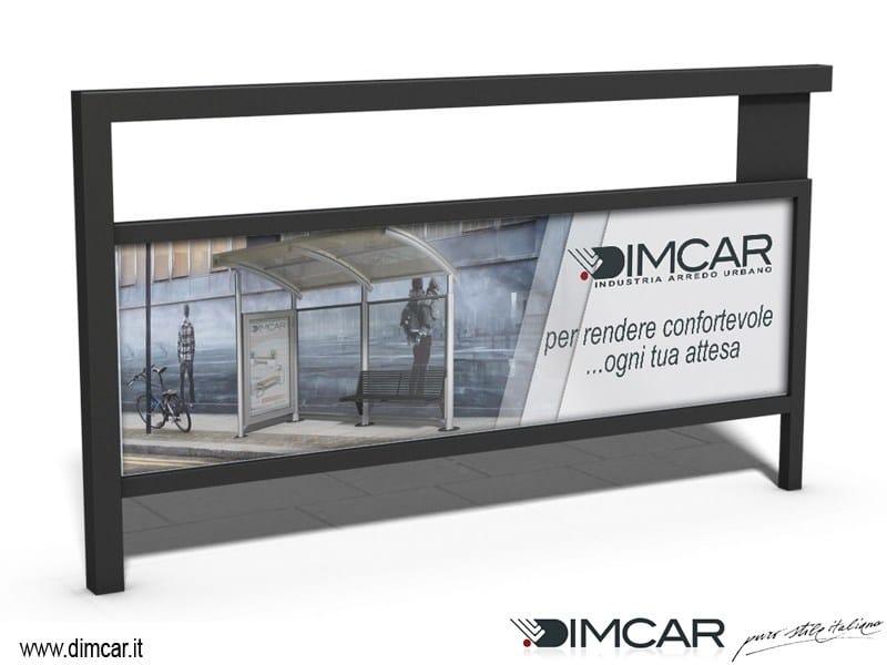 Steel pedestrian barrier Transenna Simply pubblicitaria by DIMCAR