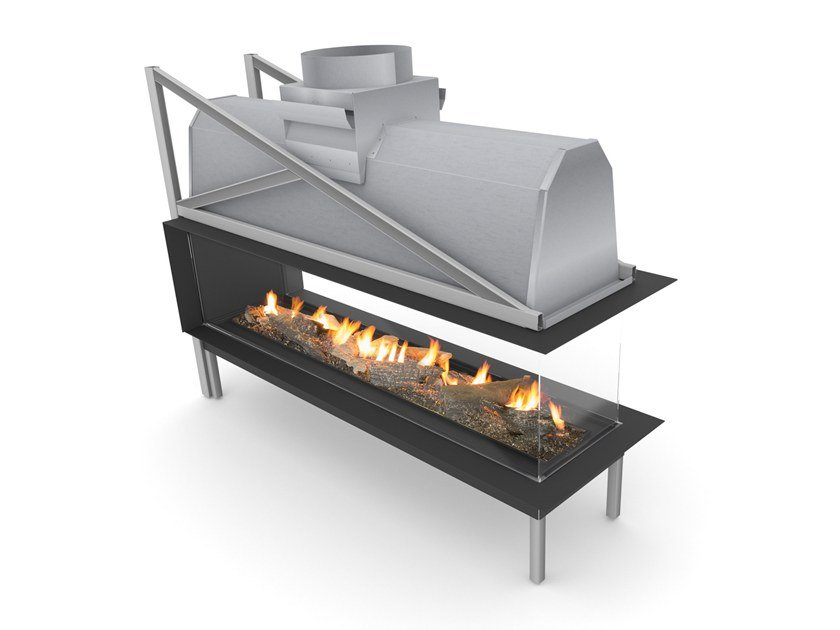 Gas 3-sided fireplace SINATRA 2400 | 3-sided fireplace by Planika