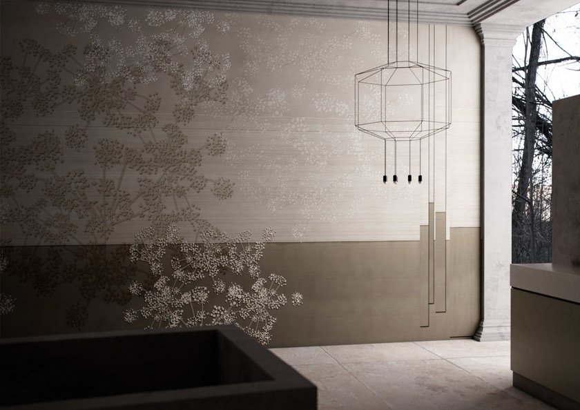 Washable vinyl wallpaper with floral pattern SINFONIA by GLAMORA
