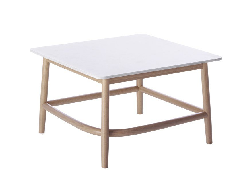 SINGLE CURVE LOW TABLE | Marble coffee table