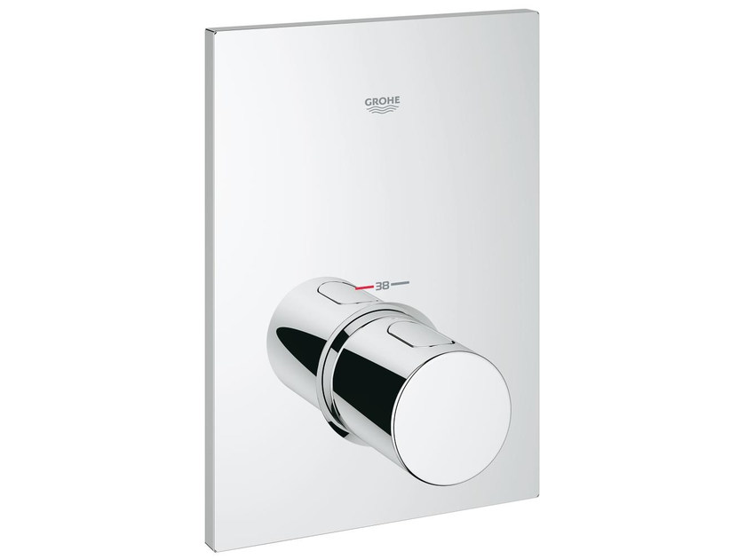 1 hole thermostatic shower mixer with plate GROHTHERM F | Single handle thermostatic shower mixer by Grohe