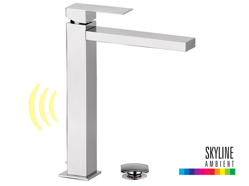 Countertop single handle LED washbasin mixer SKYLINE AMBIENT | Single handle washbasin mixer by Daniel Rubinetterie
