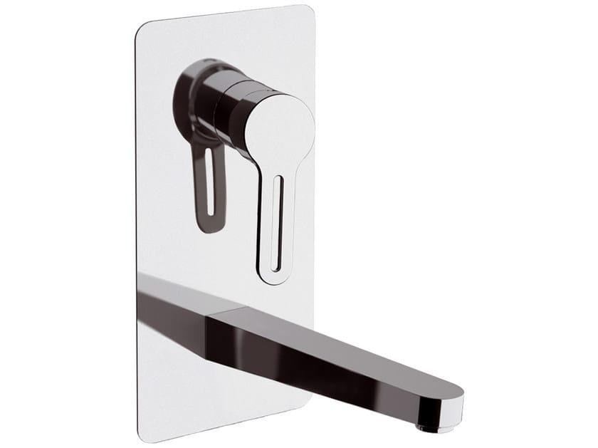 Miscelatore per lavabo a muro monocomando con piastra SMART | Miscelatore per lavabo monocomando by Daniel Rubinetterie