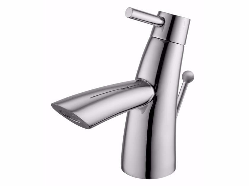 Countertop single handle 1 hole chromed brass washbasin mixer TAI CHI   Single handle washbasin mixer by JUSTIME