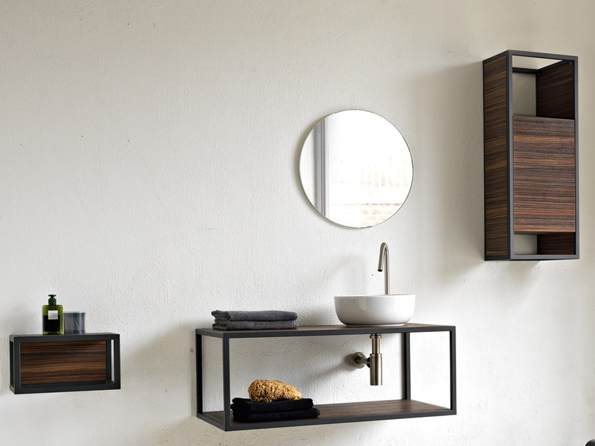 Single wall-mounted vanity unit FRAME | Single vanity unit by Scarabeo Ceramiche