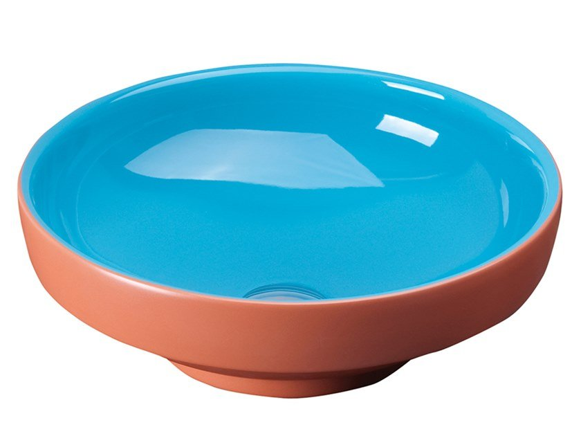 Round single terracotta washbasin WATER JEWELS | Terracotta washbasin by VitrA Bathrooms