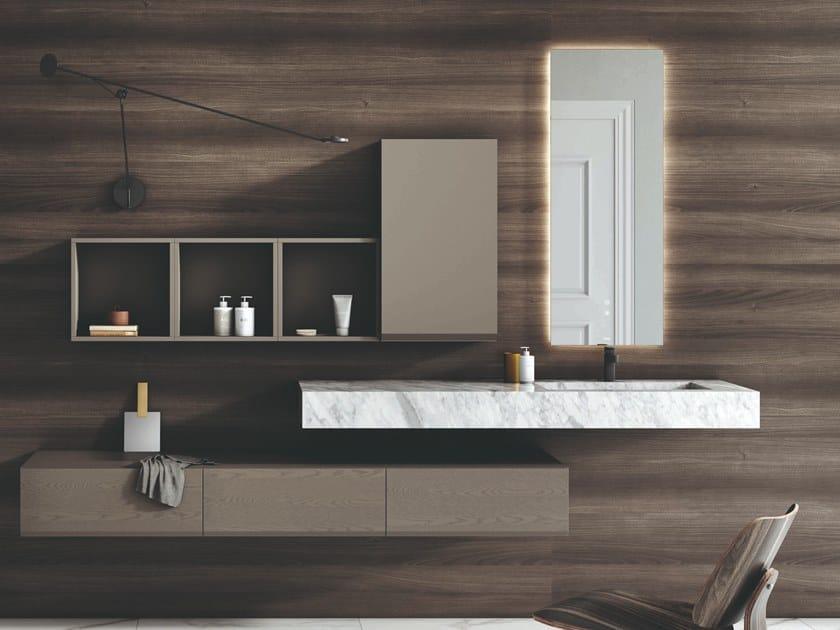 Lavabo singolo sospeso in marmo di Carrara PURE | Lavabo singolo by Fiora