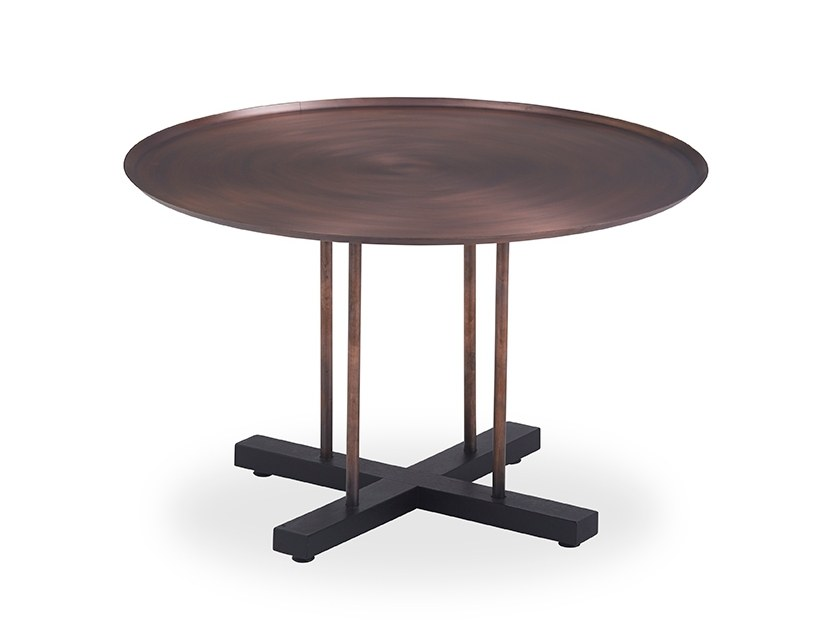 Round coffee table with bronze finish SINI | Coffee table by B&T Design