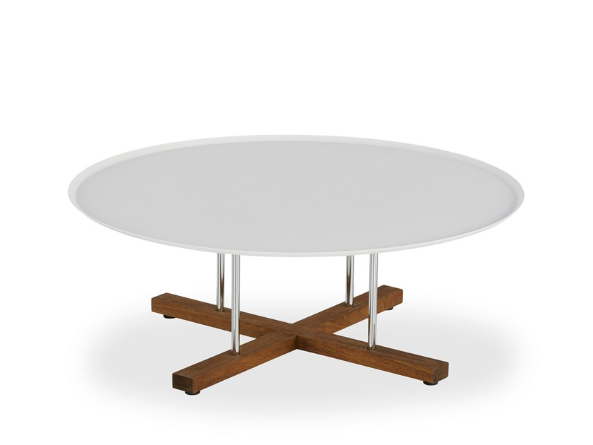 Low lacquered round coffee table SINI | Low coffee table by B&T Design