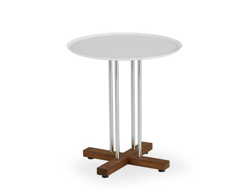 Lacquered round side table SINI | Side table by B&T Design
