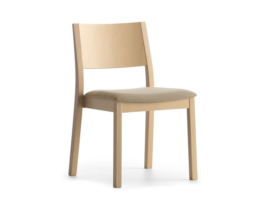 Upholstered stackable chair SINTESI 01511 by Montbel