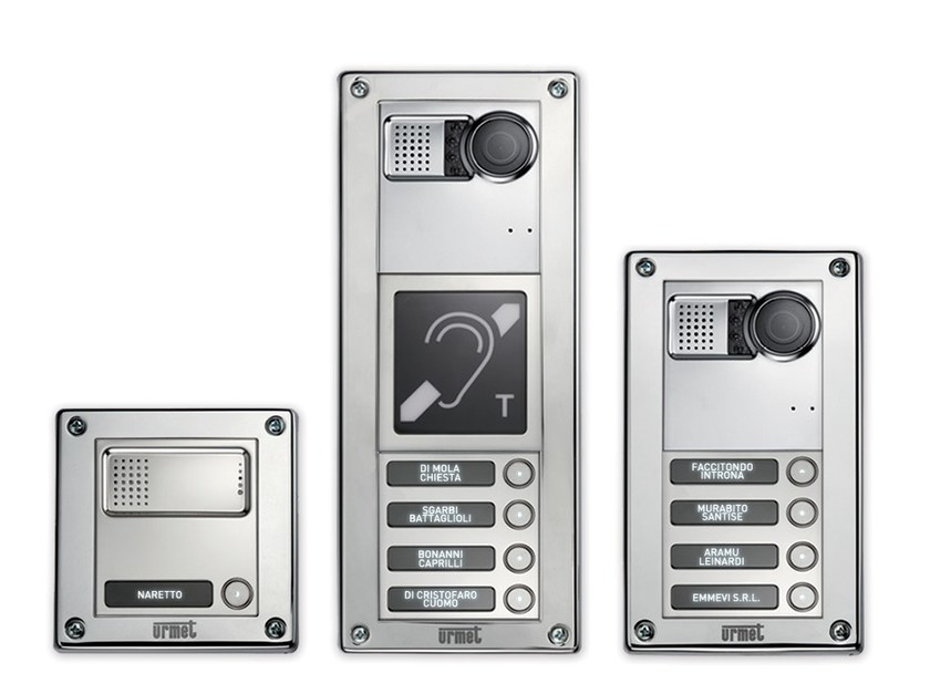 Video entryphone system and equipment SINTHESI STEEL by Urmet