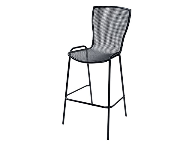 Stackable galvanized steel stool SYRENE 75 by RD Italia