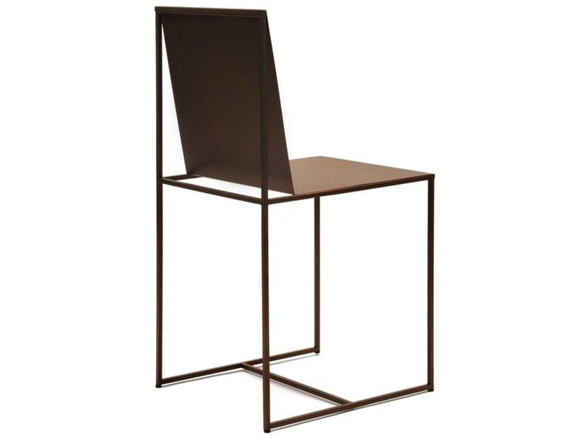 Sedia in metallo verniciato SLIM SISSI by Zeus