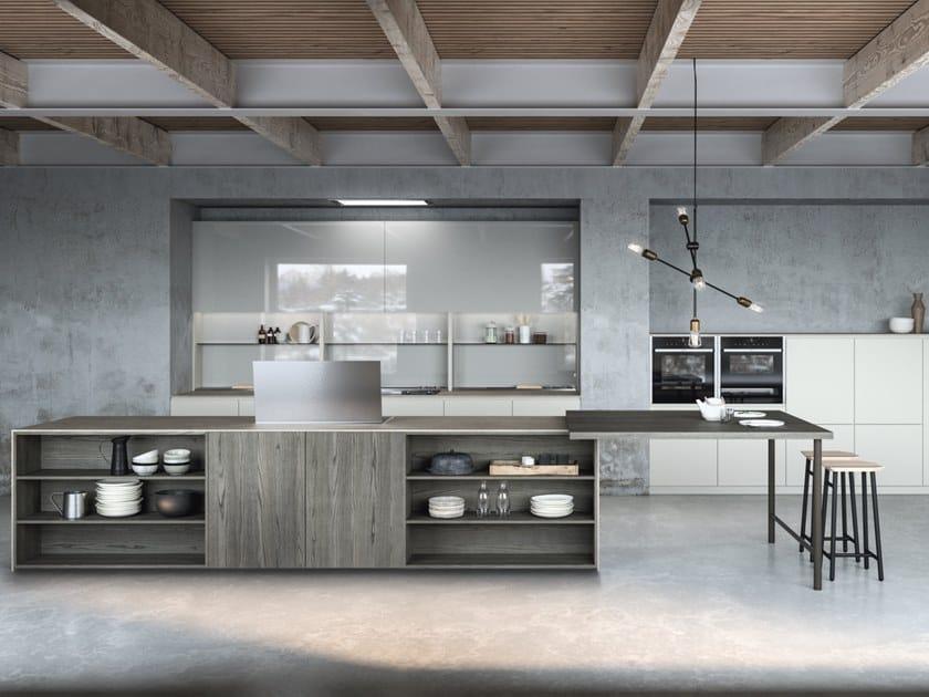 Cucina laccata con isola SISTEMA 22.2 - AMBIENTE 03 by Alta Cucine