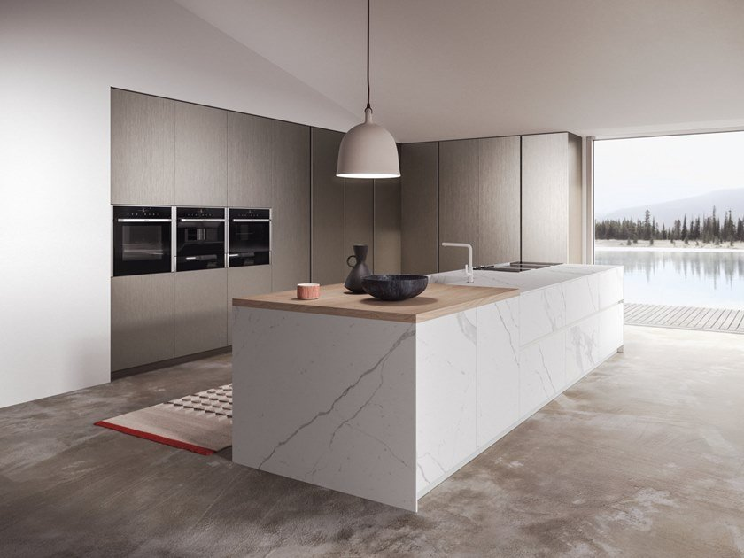 Laminam® kitchen with island SISTEMA 22.2 - ENVIRONMENT 10 by Alta Cucine