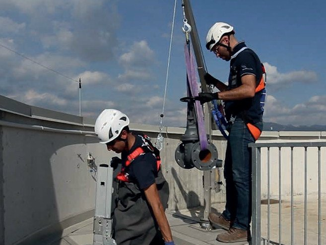Special machinery for construction sites Tripod system by SOMAIN ITALIA