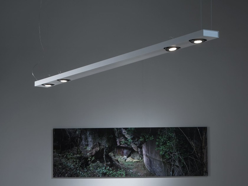Aluminium pendant lamp SISTEMA BRICK | Pendant lamp by Martinelli Luce