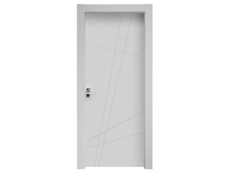 Hinged lacquered wooden door SISTEMA by NUSCO