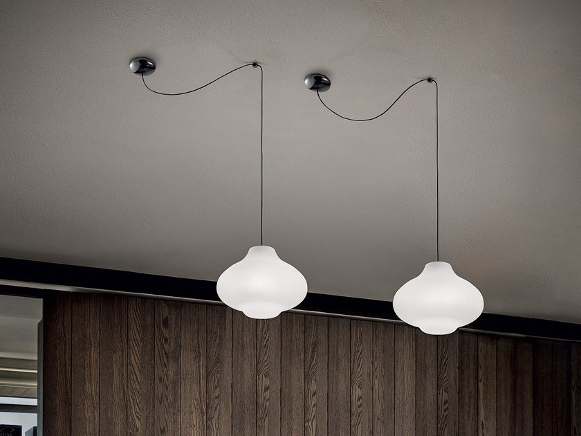 Lampada a sospensione a LED in polietilene SISTERS_1 by Linea Light Group