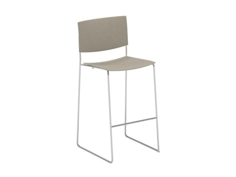 Stackable sled base technopolymer stool with footrest SIT BQ1203 / BQ1204 | Technopolymer stool by Andreu World