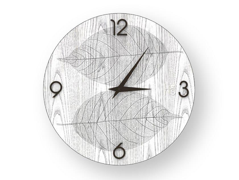Orologio da parete in legno intarsiato o stuccato SKELETON COLD | Orologio by LIGNIS®