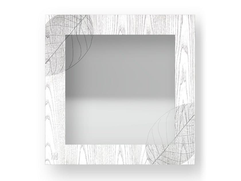 Specchio quadrato a parete con cornice SKELETON COLD | Specchio by LIGNIS®