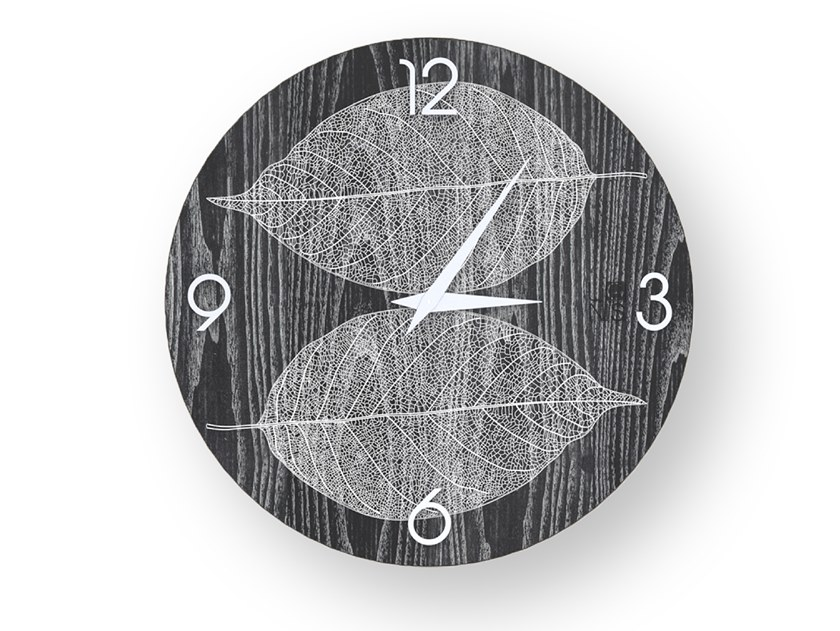 Wall-mounted wooden clock SKELETON COLORS | Clock by LIGNIS®