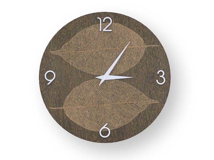 Orologio da parete in legno intarsiato o stuccato SKELETON WARM | Orologio by LIGNIS®