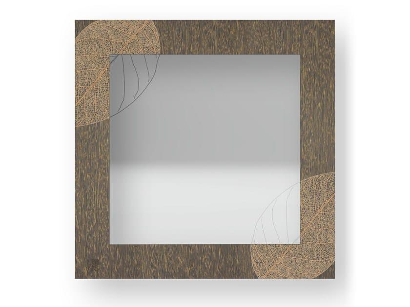 Specchio quadrato a parete con cornice SKELETON WARM   Specchio by LIGNIS®