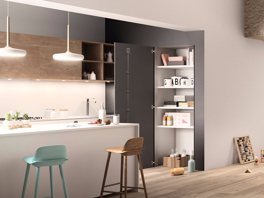 MDF flush-to-the-wall door system SKEMA by FERREROLEGNO