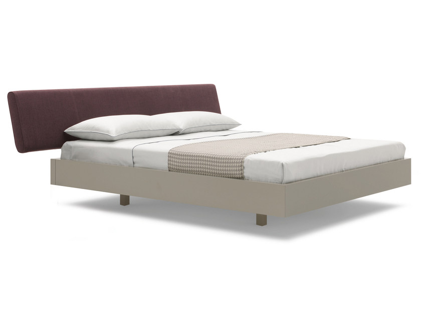 Double bed with upholstered headboard SKEMA by Silenia