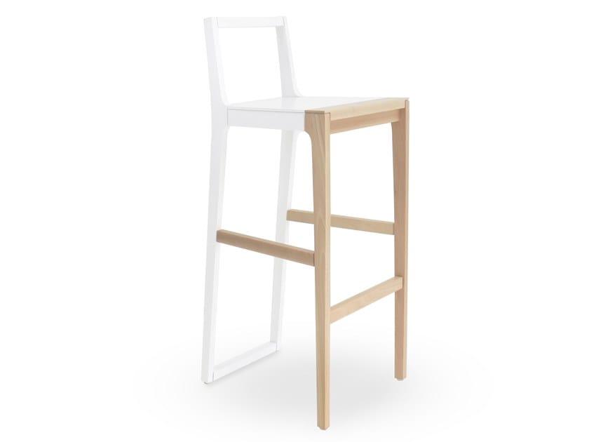 High plywood barstool SKIN | Barstool by Branca Lisboa