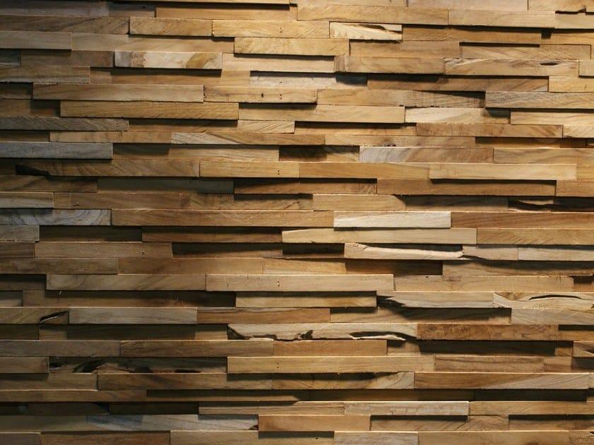 Reclaimed wood 3D Wall Tile SKIN PANEL MATRIX by Teakyourwall