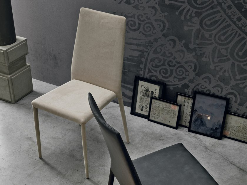 Upholstered chair SKINNY by Gruppo Tomasella