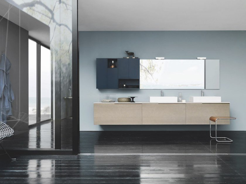 Wall-mounted vanity unit with drawers SKY 181 by Arbi Arredobagno