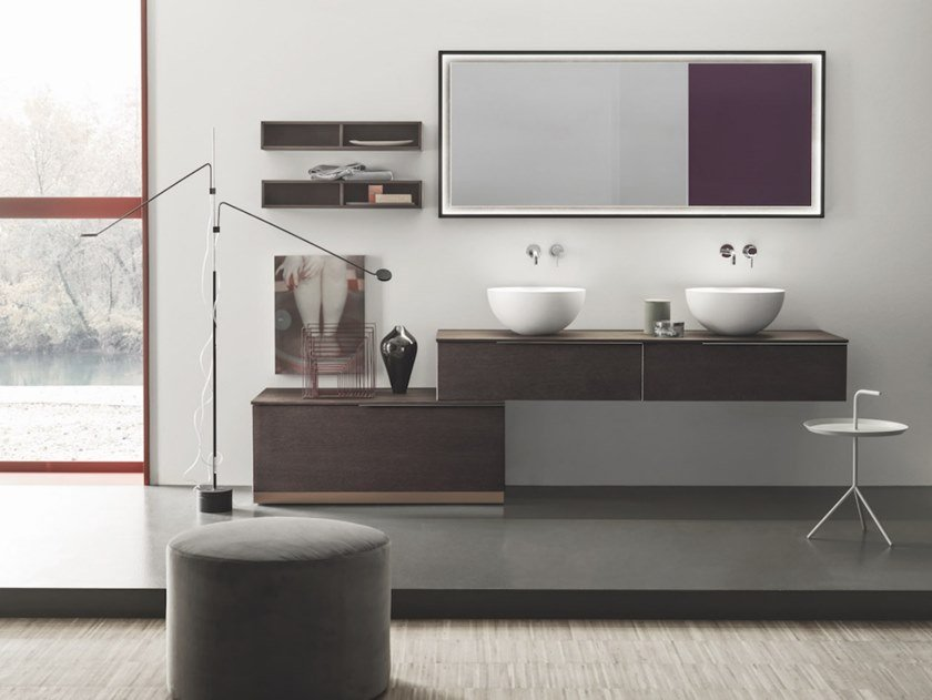 Arbi Mobili Bagno Sky.Wall Mounted Vanity Unit With Drawers Sky 182 Sky Collection By Arbi Arredobagno