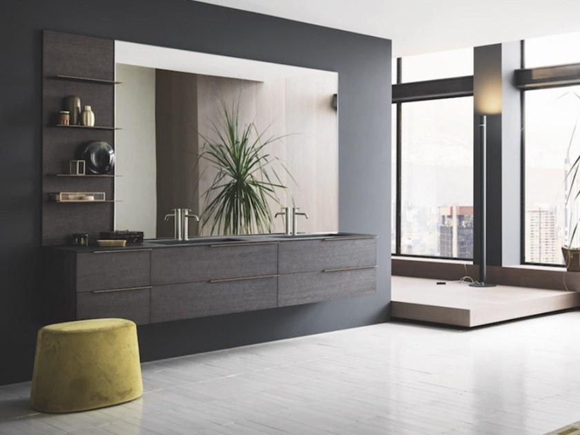 Wall-mounted vanity unit with drawers SKY 186 by Arbi Arredobagno