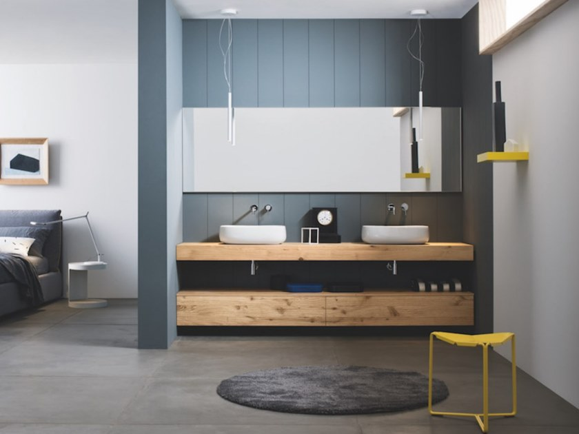 Wall-mounted vanity unit with drawers SKY 190 by Arbi Arredobagno